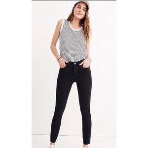 "Madewell 9"" High-Rise Skinny Jeans, Lunar Wash, 28"
